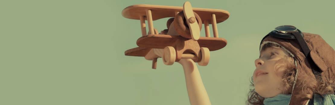 Wir fliegen auf Holz